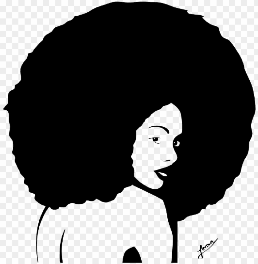 raphic freeuse afro clipart transparent.
