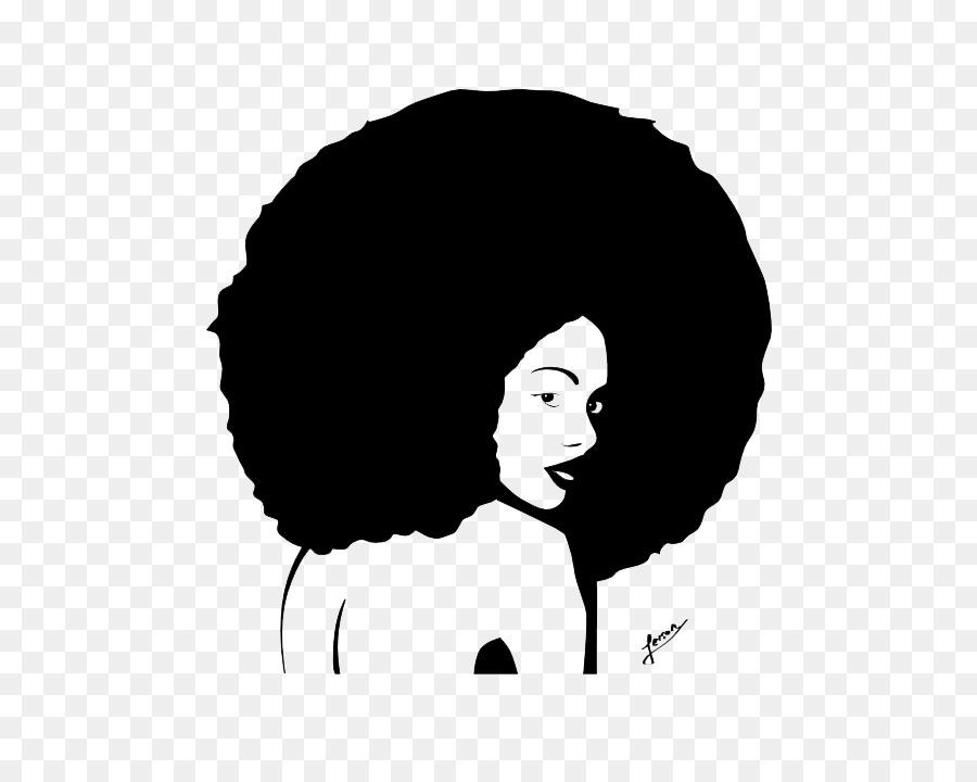 Silhouette Male Afro Clip art.