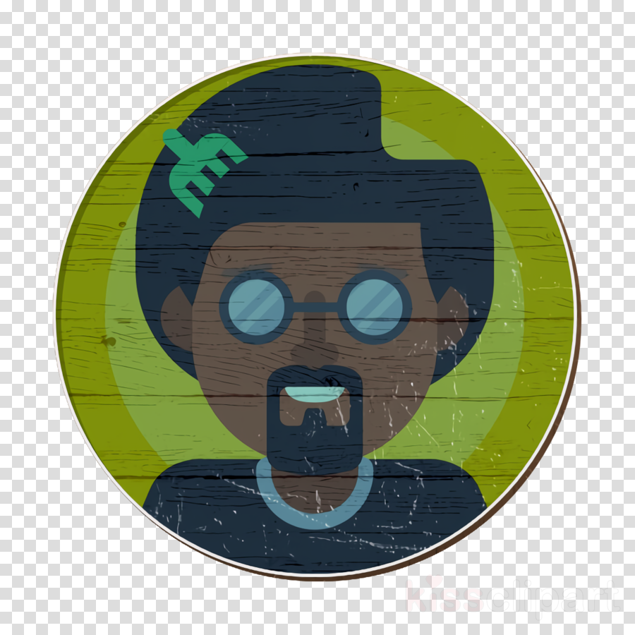 afro icon avatar icon male icon clipart.