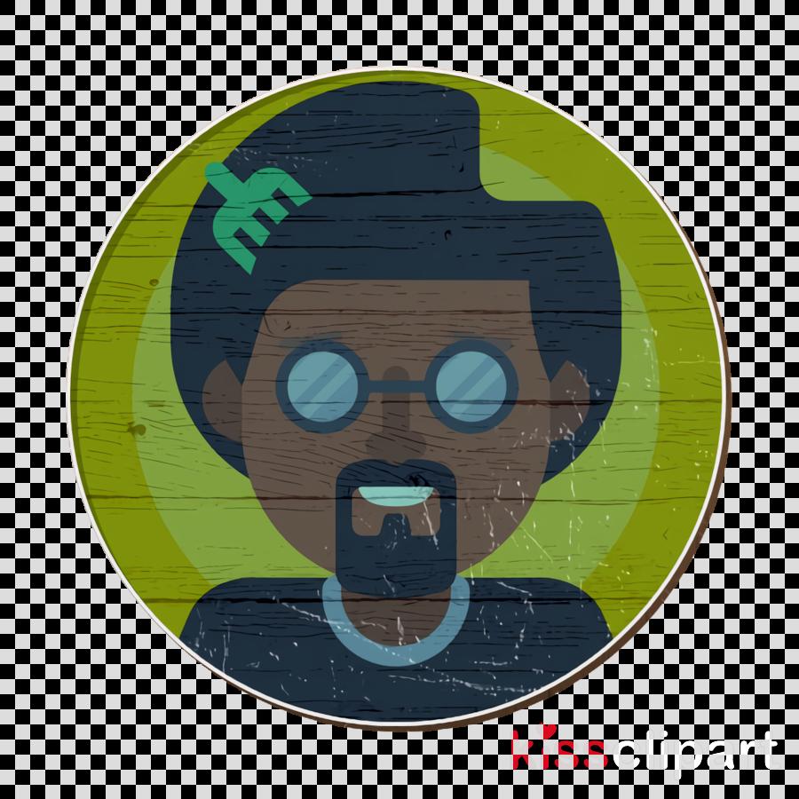afro icon avatar icon male icon clipart.
