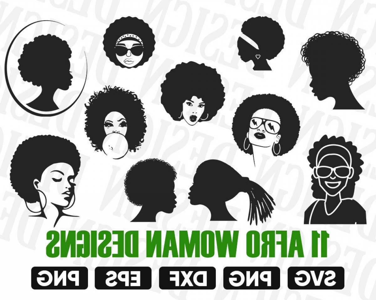 Black Woman Clipart Afro Silhouette Diva.