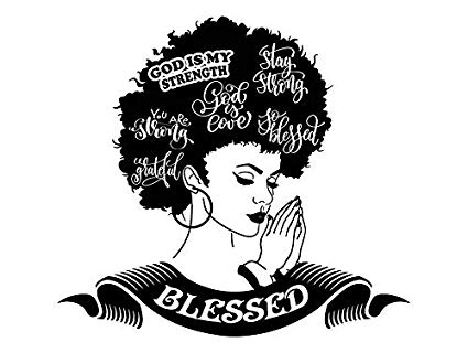 Amazon.com: Yetta Quiller Afro Woman Praying Lord Queen.