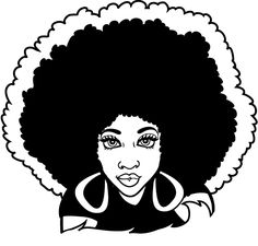 Afro Woman Clipart.