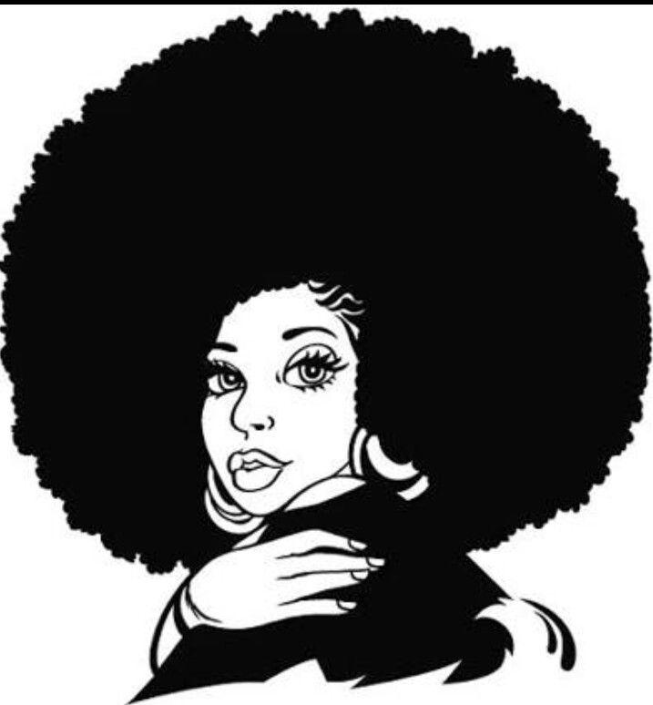 Black Girl With Natural Hair Drawing at GetDrawings.com.