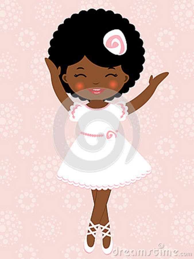 Little Girl Ballerinas Cartoon.