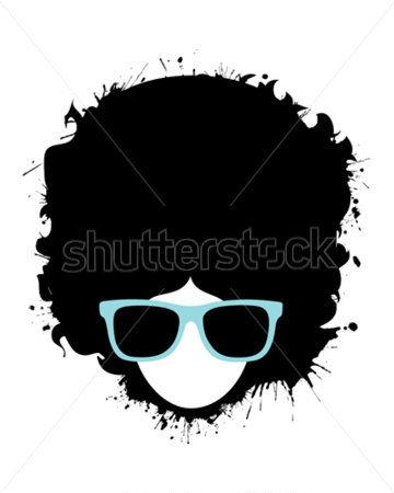 Afro Man stock vector.