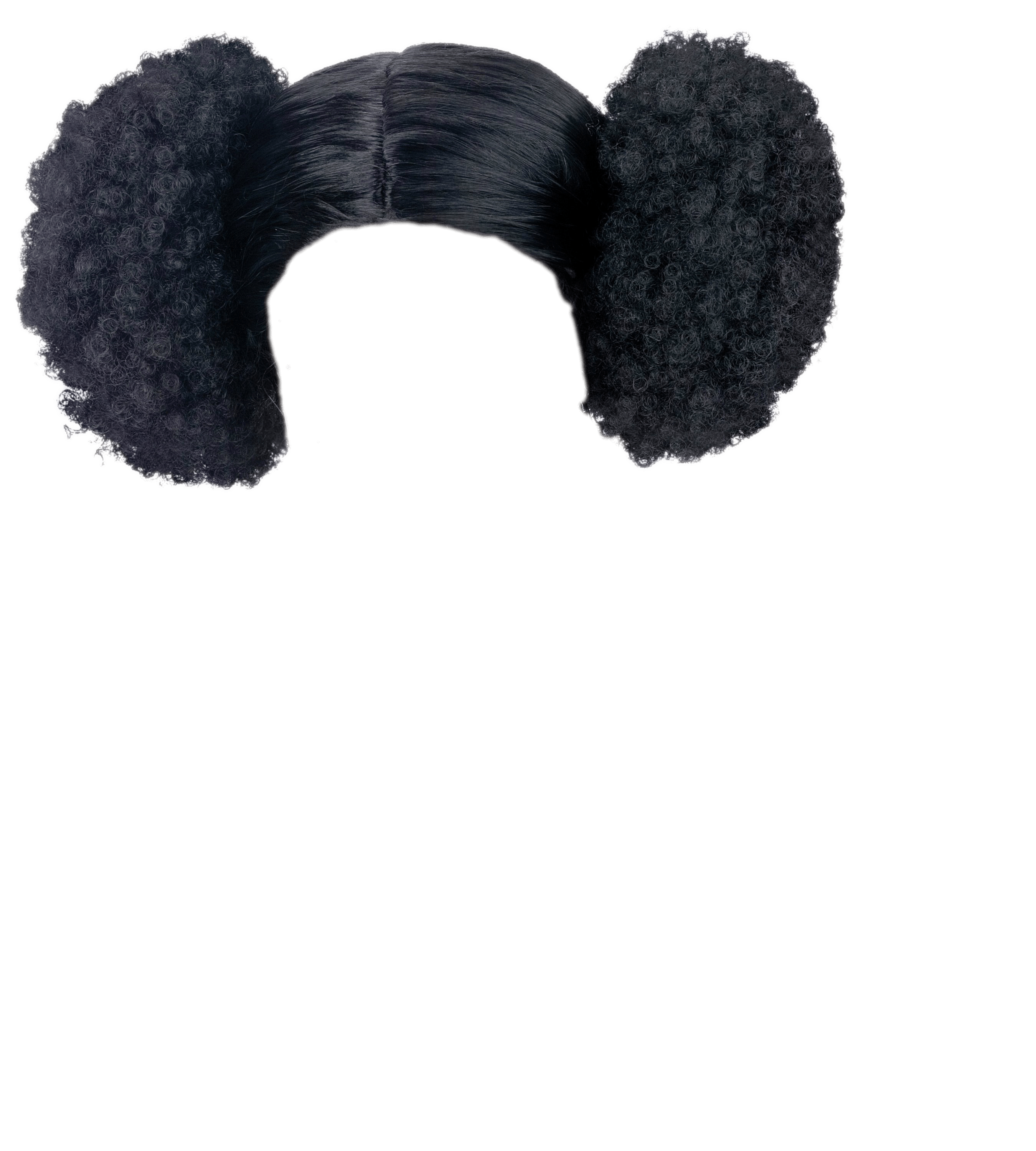 Wig Afro Poof transparent PNG.