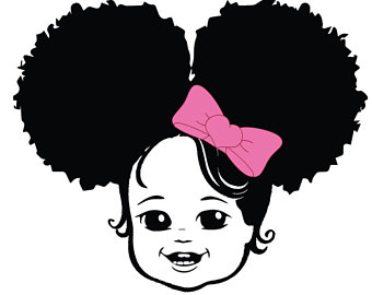 Afro Baby Clipart.