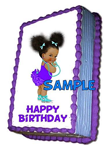 Amazon.com: Purple & Tiffany Blue Afro Puff African American.