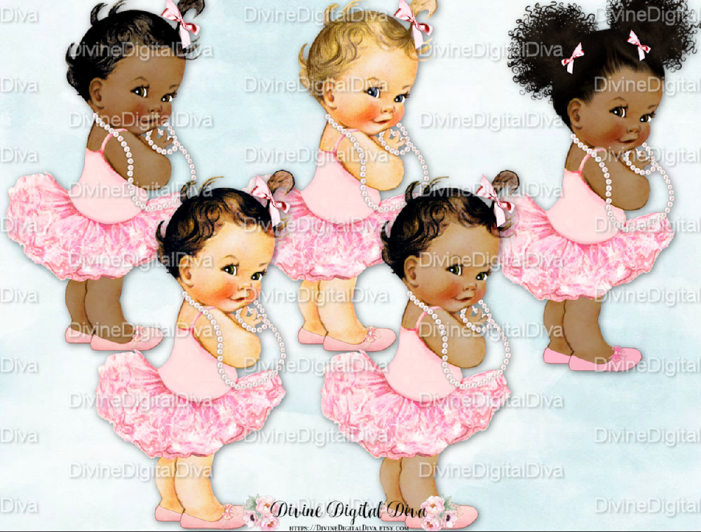 Afro Puffs Baby shower cake topper.