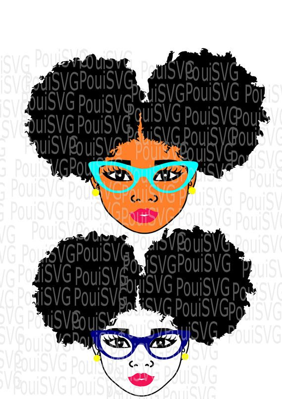afro woman,Afro Puffs SVG,Natural hair svg,Silhouette cutting file.