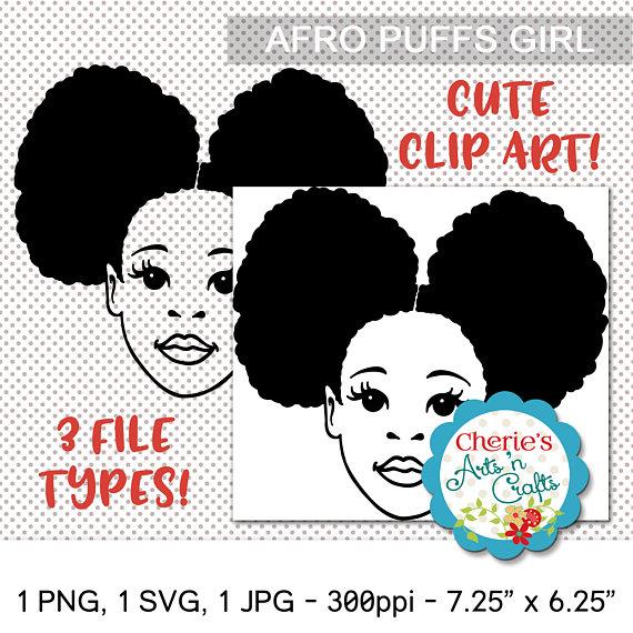 Afro Puffs Little Girl.