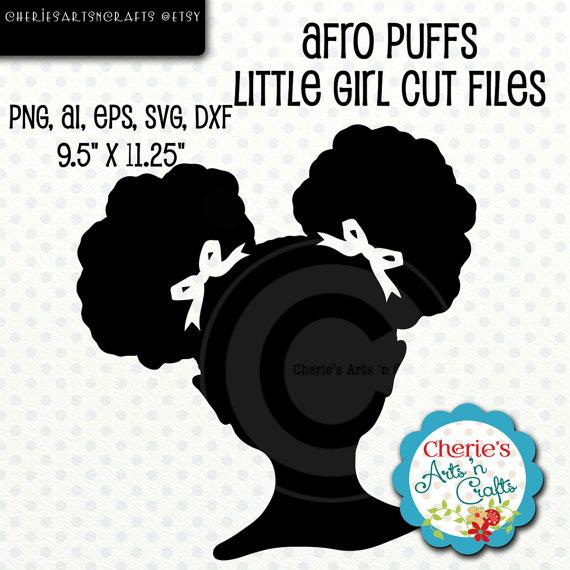 Afro Puffs Little Girl Silhouette Little Girl Silhouette.