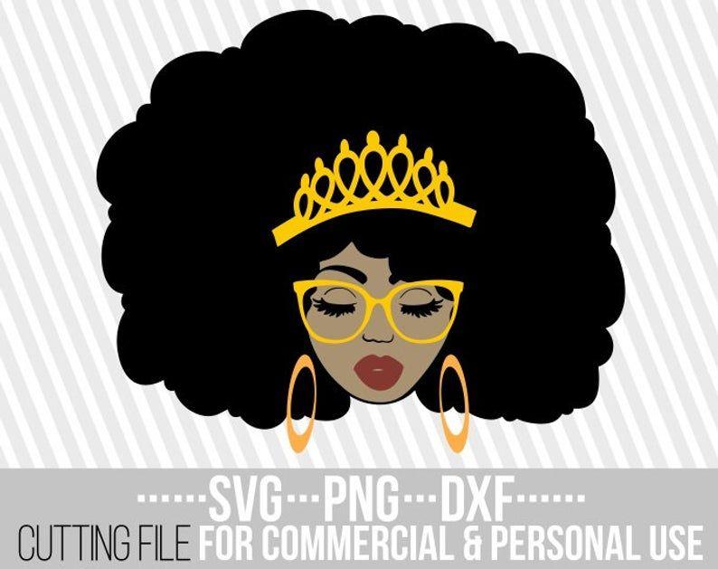 Beauty Black Queen svg, Red lips, Crown clipart, Melanin.