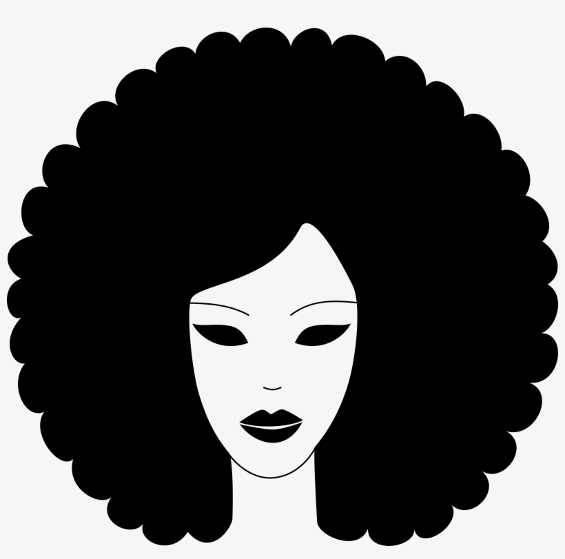 Afro Hair Silhouette At Getdrawings.