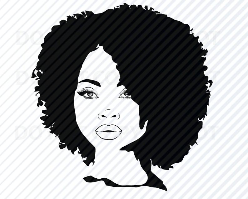 African American Woman SVG.