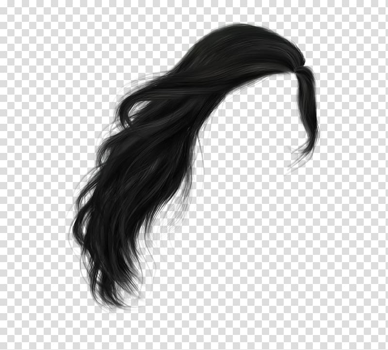 Black wig, Hairstyle Wig , hair transparent background PNG clipart.