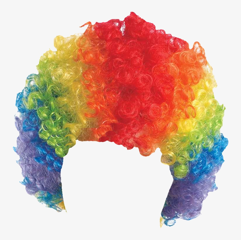Curly Clown Wig.