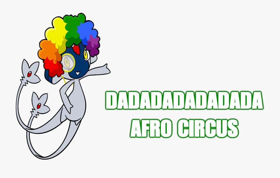 Dadadadadadada Afro Circus Text Flower Clip Art Font.