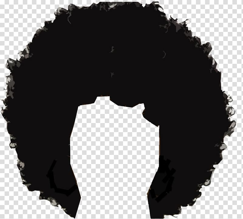 Black wig painting, Afro.