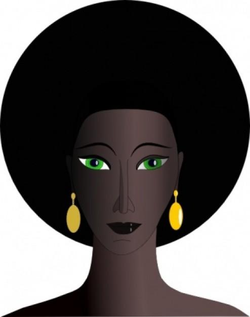 Afro woman clip art.