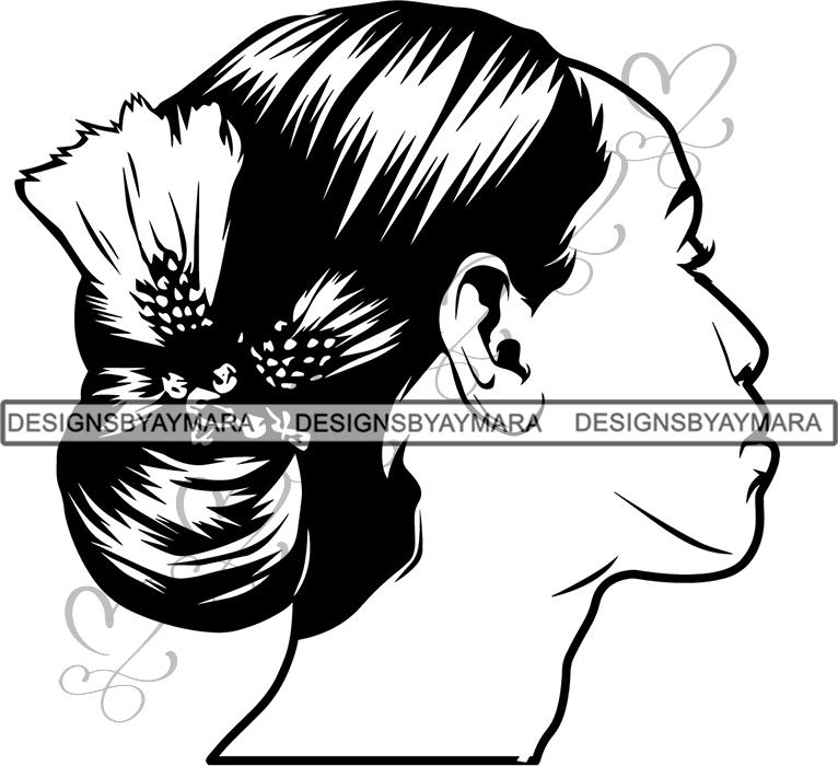 Afro Beautiful Black Woman SVG Hairstyle Beauty Salon Queen Diva Classy  Lady .SVG .EPS .PNG Vector Clipart Digital Cricut Circuit Cut Cutting.