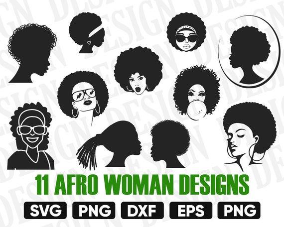black woman clipart, afro silhouette, diva silhouette, black woman svg,  Afro Woman Silhouette, afro woman svg, afro woman vector, afro girl.
