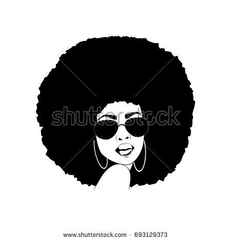 Afro woman clipart 6 » Clipart Station.