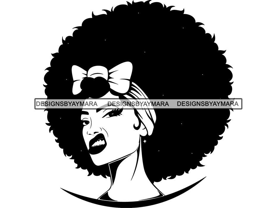 Afro Woman SVG Nubian Melanin Goddess Queen Diva Classy Lady .SVG .EPS .PNG  Vector Clipart Digital Cricut Circuit Cut Cu.