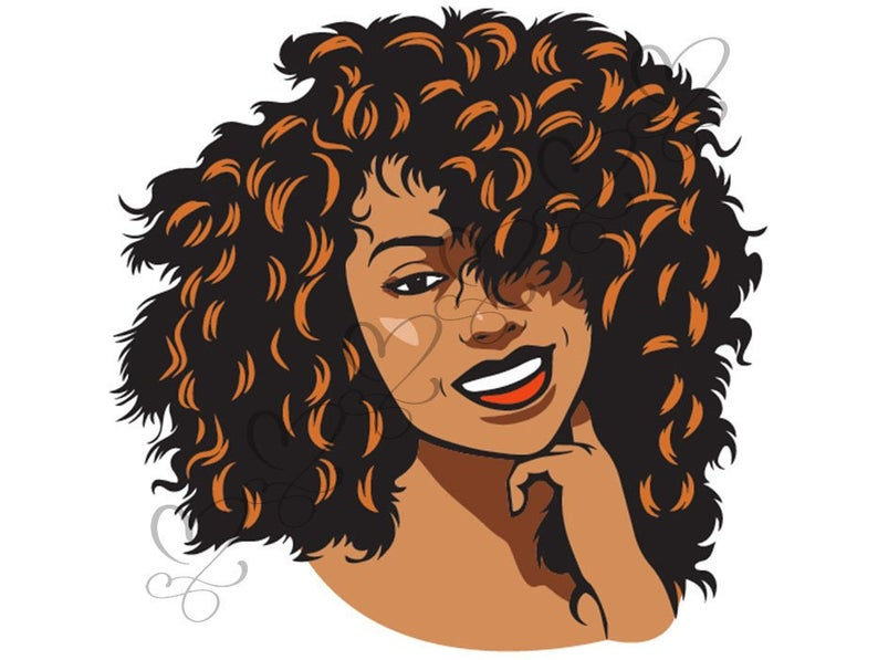 Afro woman clipart in color free online clipart images.