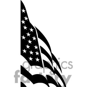 Stars And Stripes Black And White Clipart.
