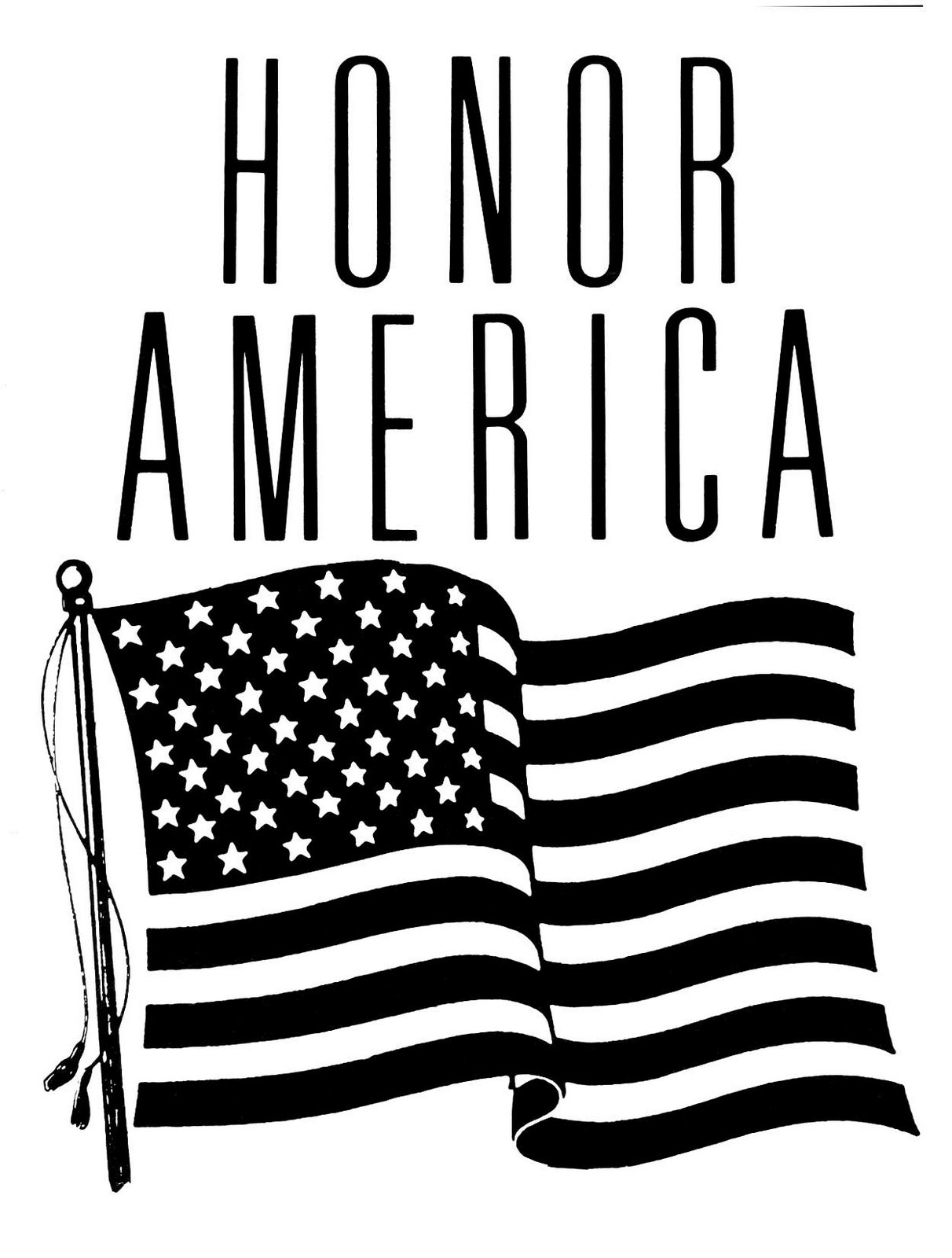 American flag student clipart.