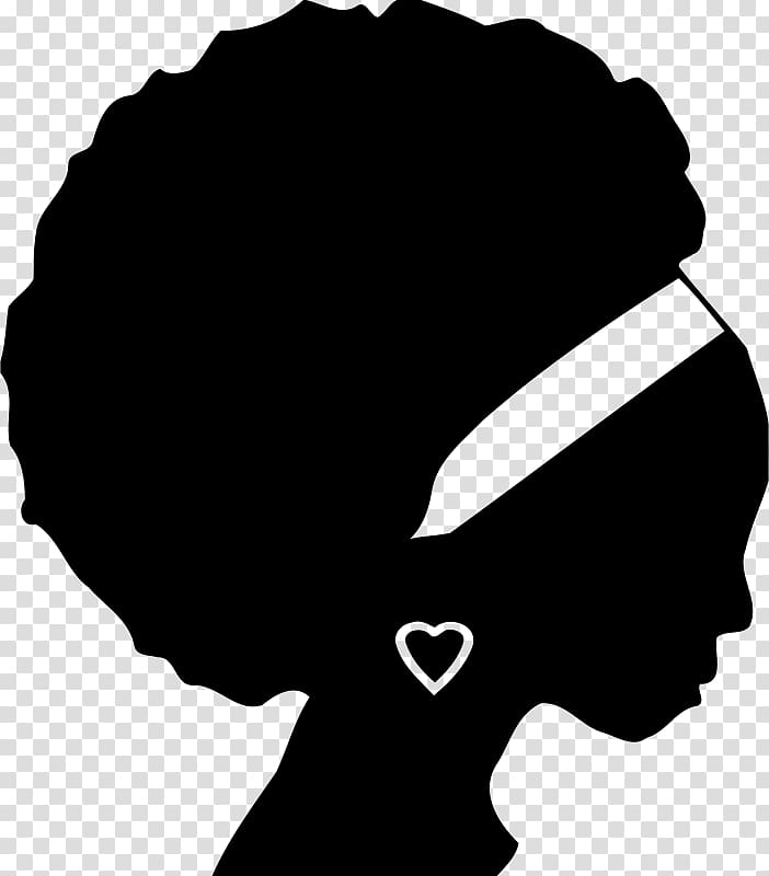 African American Silhouette Black , Silhouette transparent.