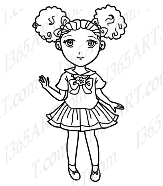 Black Girl Clipart Black And White.