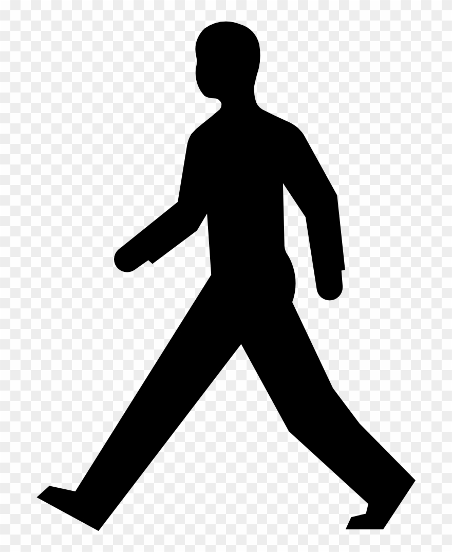 Pedestrian clipart black and white clipart images gallery.