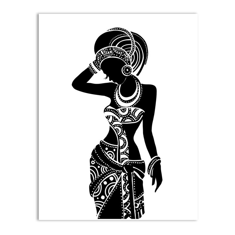 African Woman Silhouette Art at GetDrawings.com.