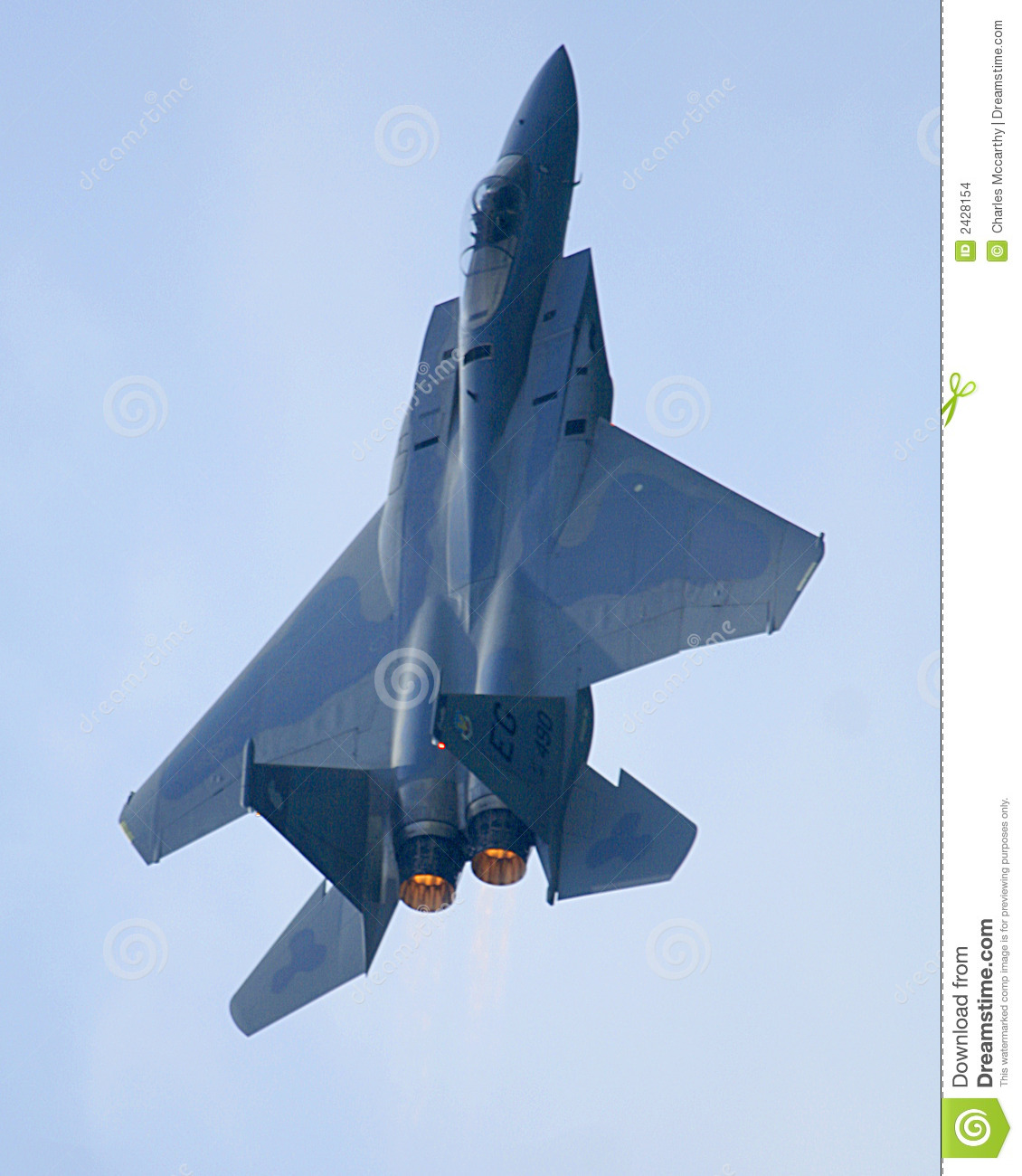 F15 Eagle Jet Afterburner Stock Images.