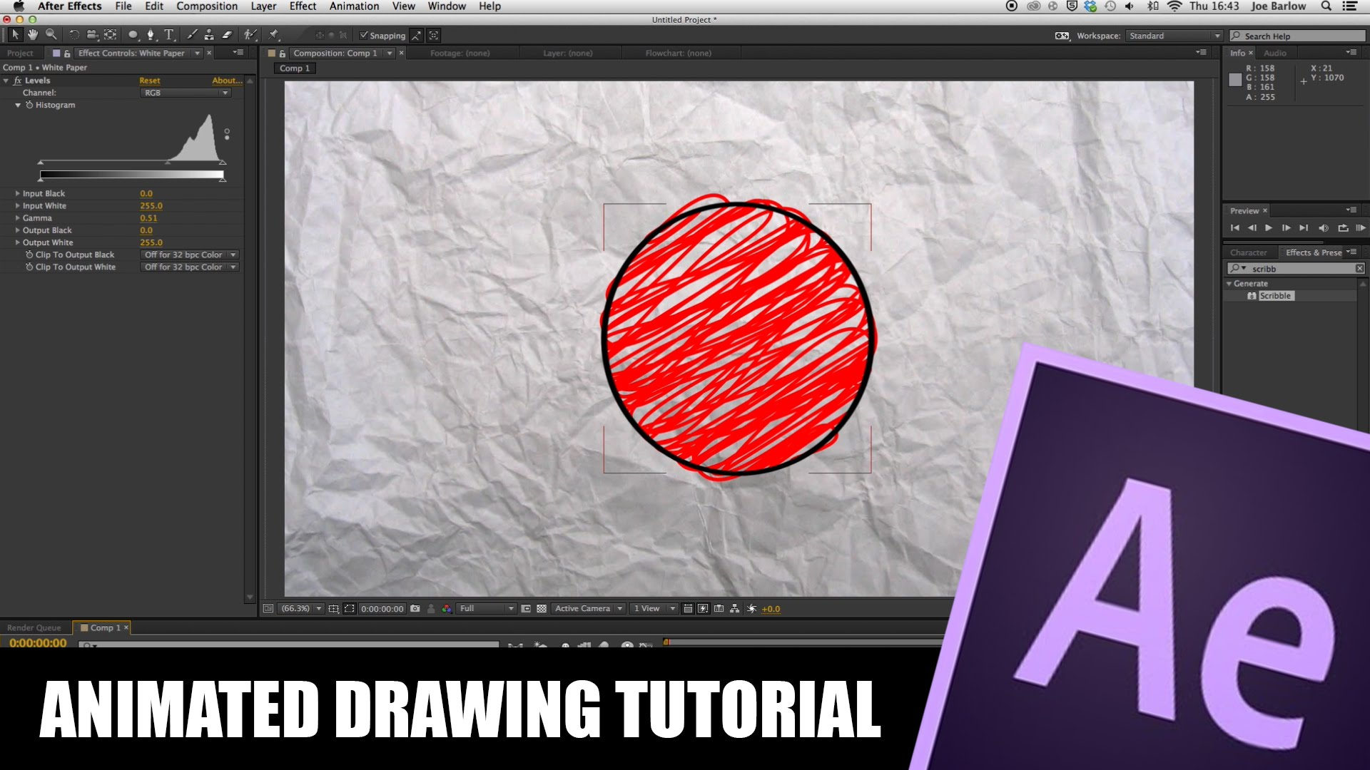 After Effects Tutorial: Animated Drawing.