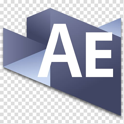Angle text brand, After Effects 3 transparent background PNG.