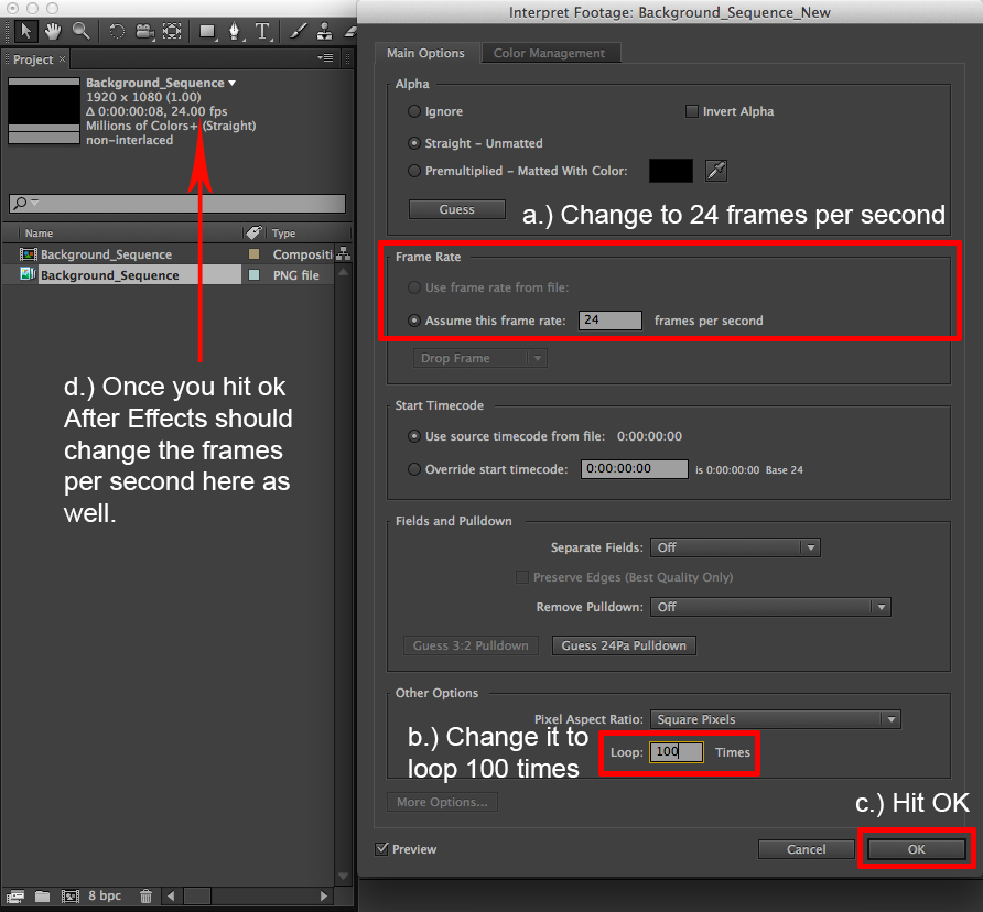 Working With Image Sequences in Photoshop & After Effects CS6.
