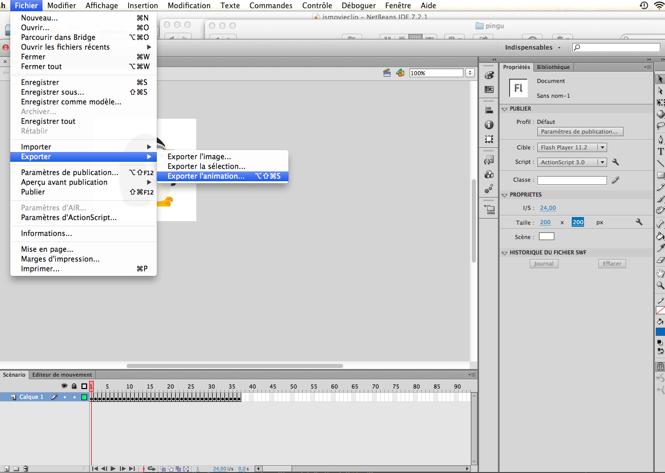 How to convert a Flash/After Effects animation into a JSMovieclip.