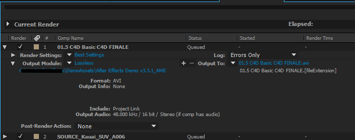 Basics of rendering and exporting in After Effects CC.