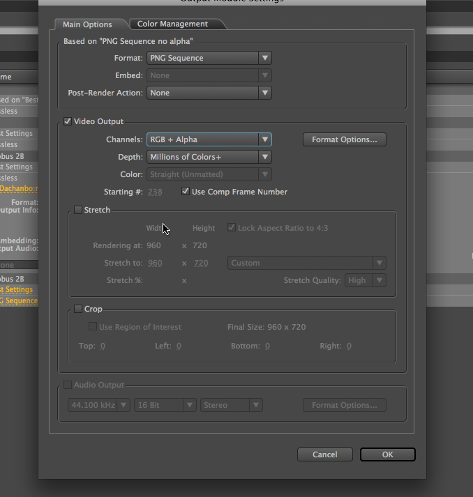 Exporting in AE CS4 with TRANSPARENT background : Adobe After Effects.