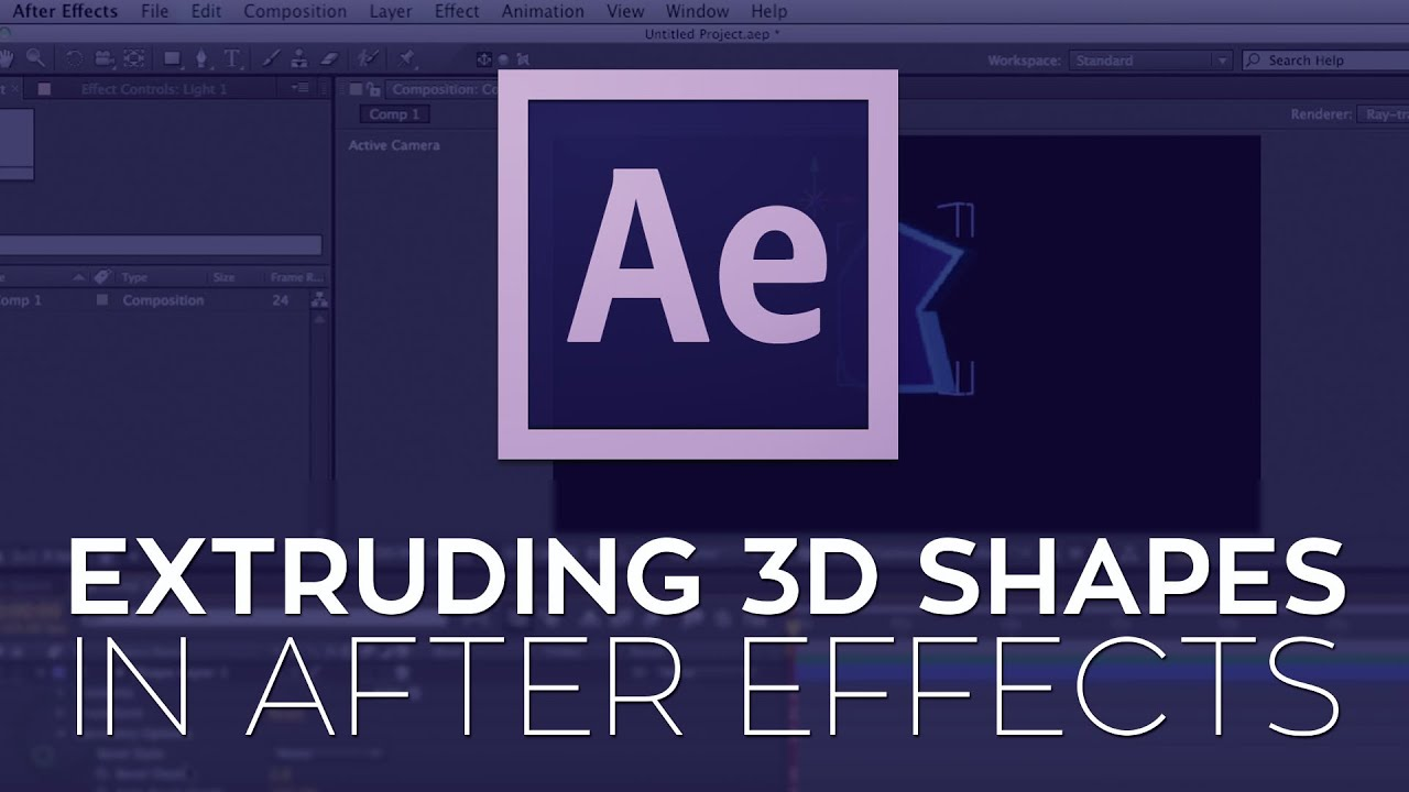 Extruding 3D Shapes in After Effects CS6.
