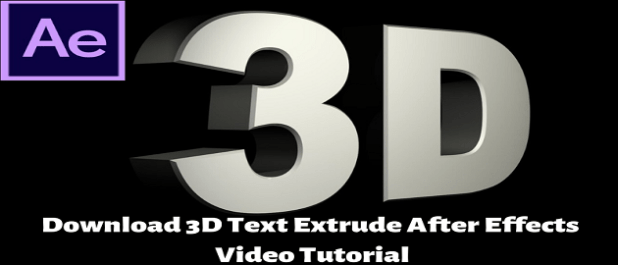 ▷ Download 3D Text Extrude After Effects Video Tutorial.