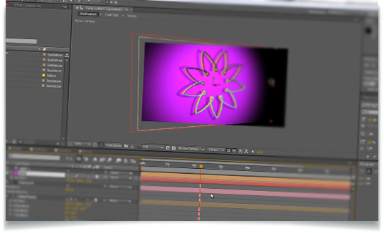 Extruding 3D in After Effects Using The Shatter Method.