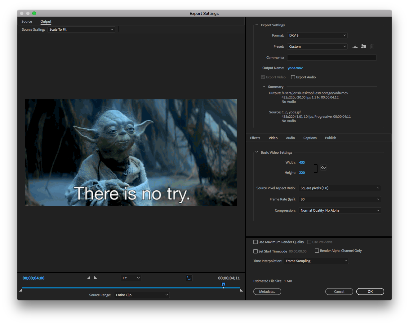 Rendering to DXV.