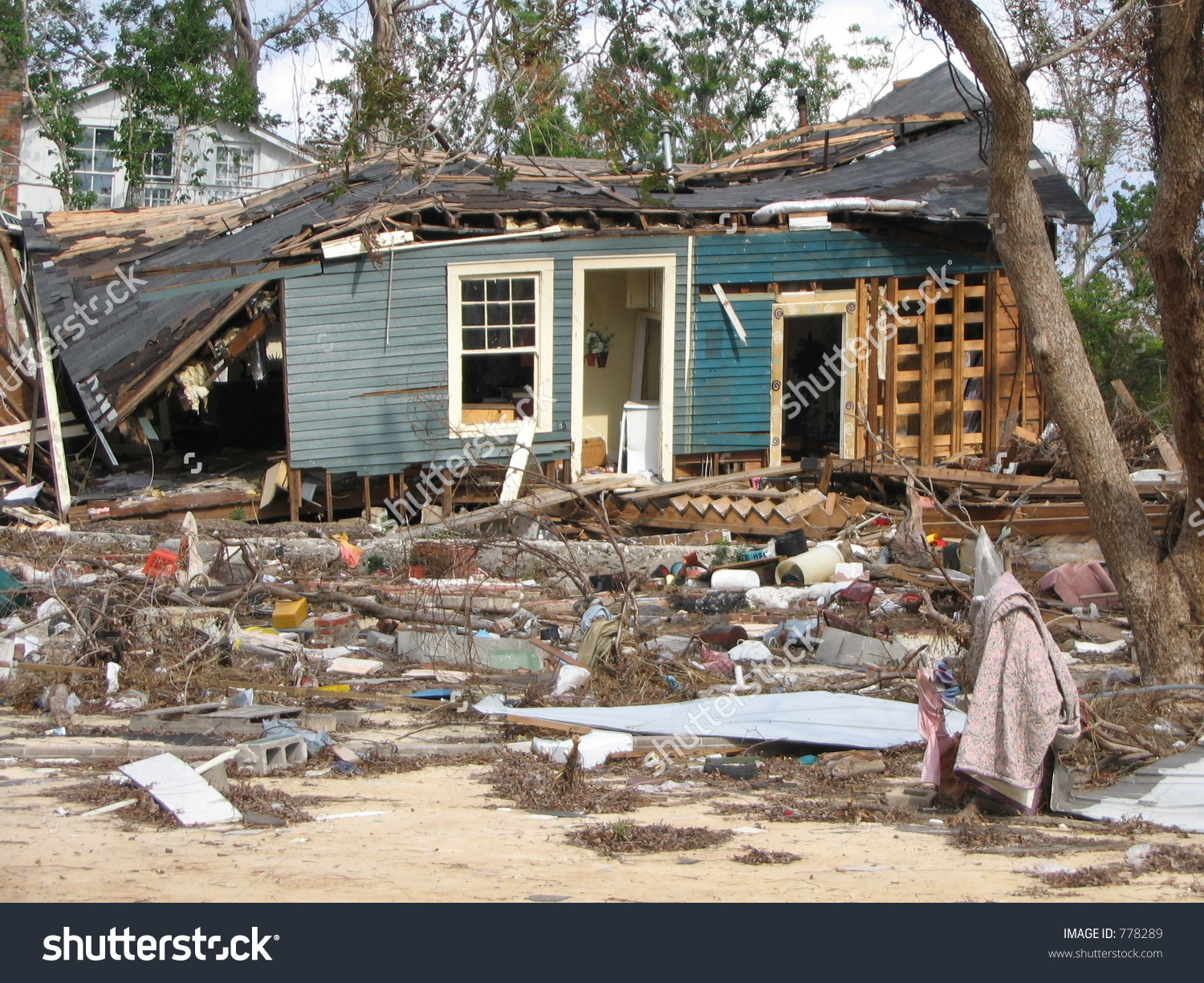 Hurricane Katrina Wind Storm Surge Damage Stock Photo 778289.