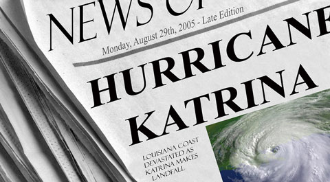 Hurricane Katrina's lessons for covering disasters.