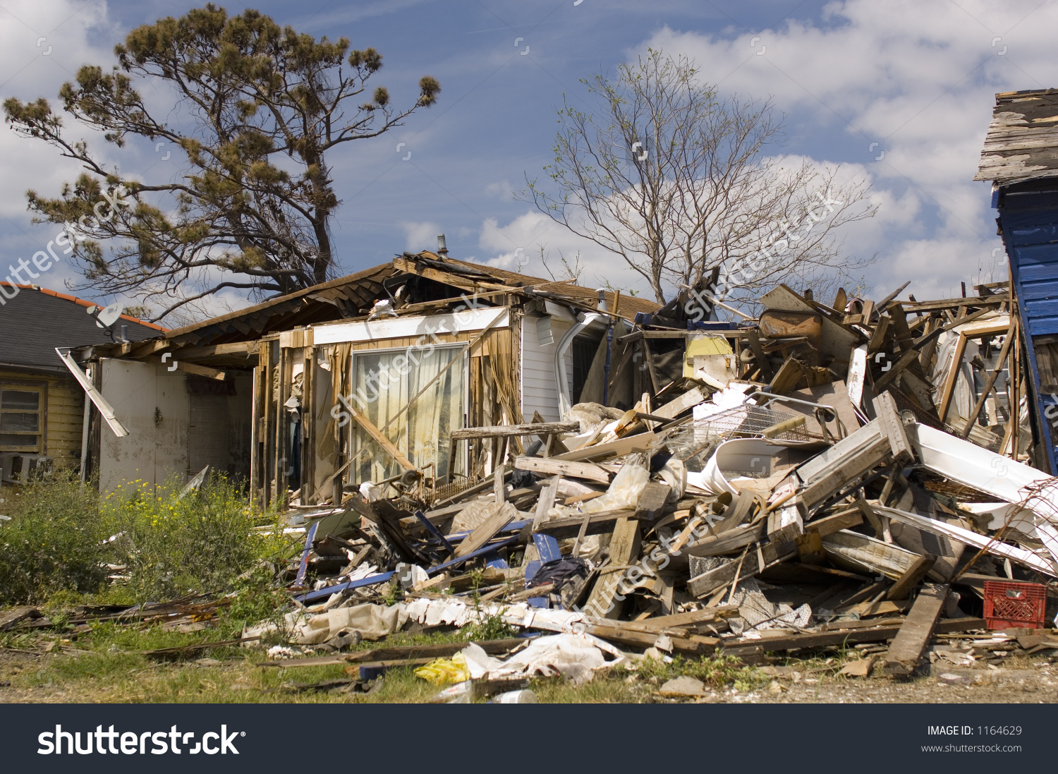 Hurricane Katrina Damage Lower 9th Ward Stock Photo 1164629.